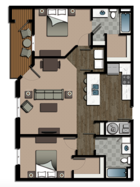 Lumberyard District Two Bedroom